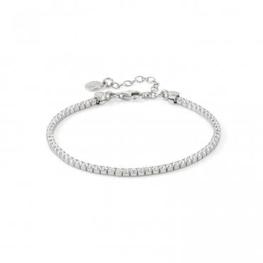 Chic & Charm Tennis Bracelet in Silver with CZ