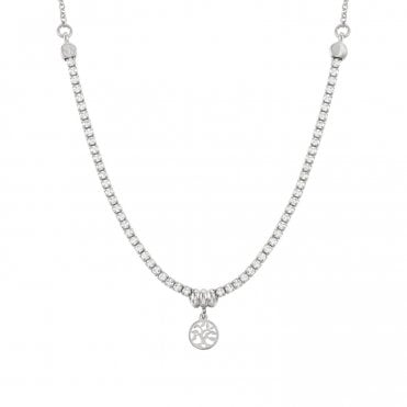 Chic & Charm Tree Of Life Necklace in Silver with CZ