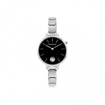 Classic Composable Round Watch With Black Dial
