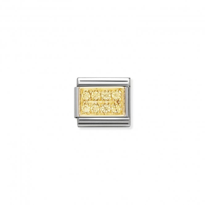 Nomination Classic Gold CZ Pave (Yellow) Sparkly Charms
