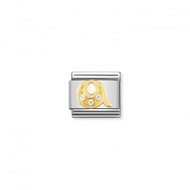 Nomination Classic Gold CZ (Q) Letter Charms