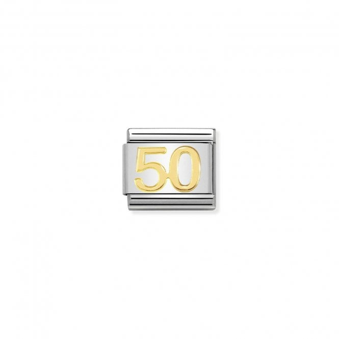 NOMINATION Classic Gold Number 50 Charm