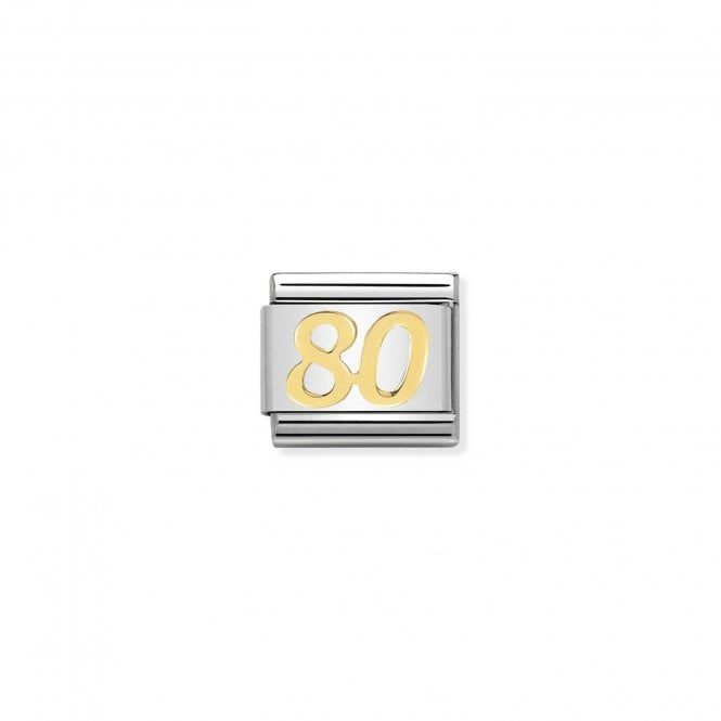 NOMINATION Classic Gold Number 80 Charm