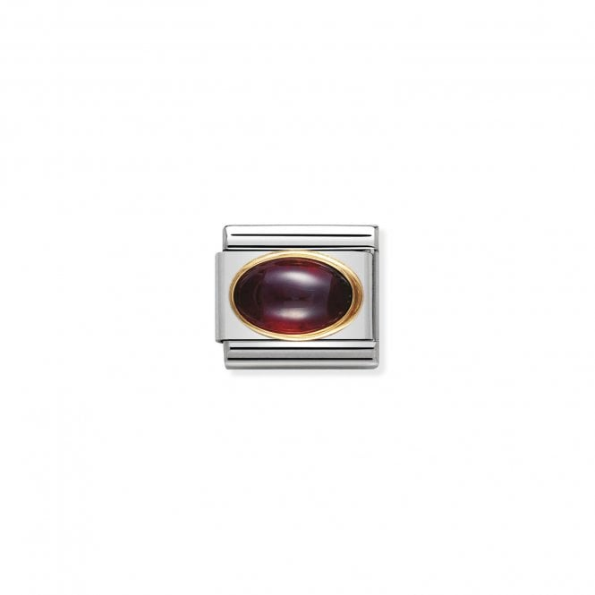 Nomination Classic Gold (Oval Garnet Stone) Sparkly Charms
