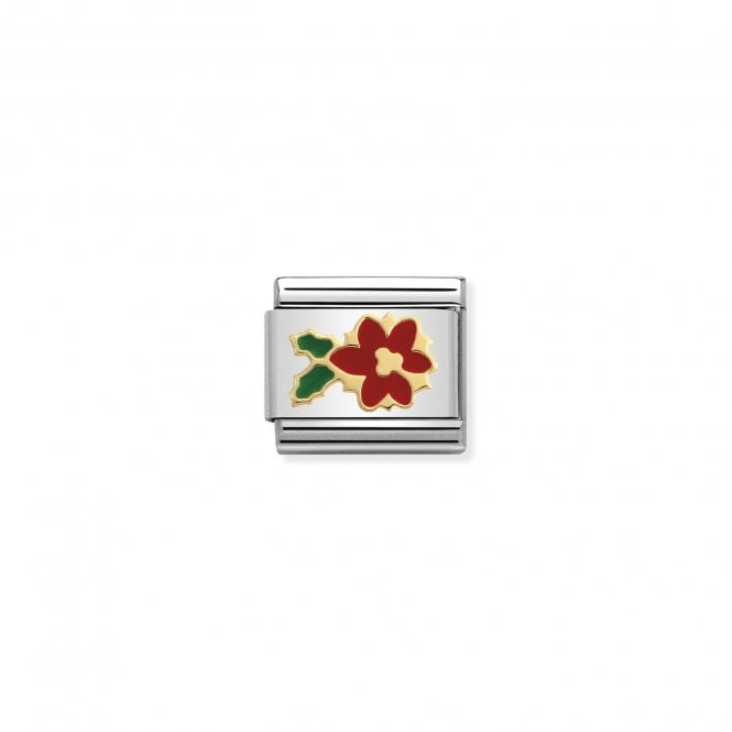 Nomination Classic Gold (Poinsettia Flower) Christmas Charms