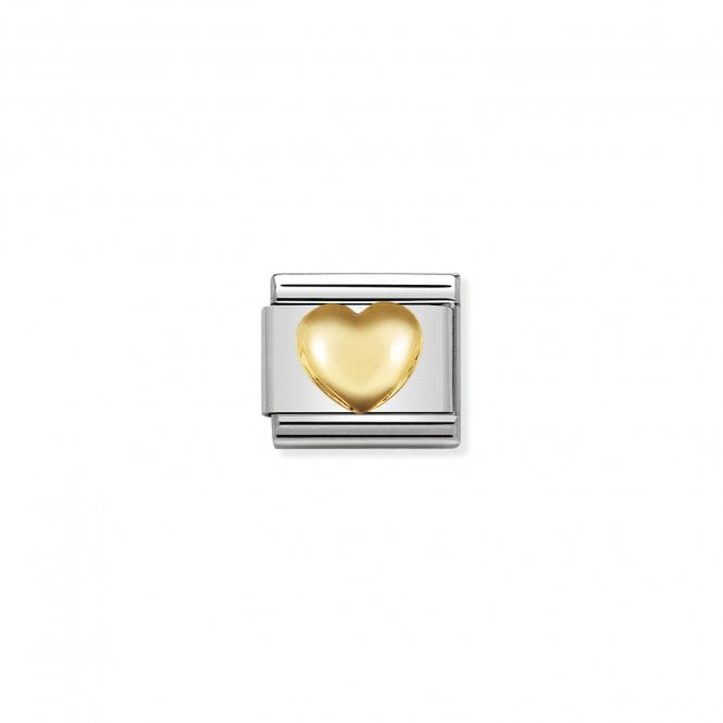 Nomination Classic Gold (Raised Heart) Love & Hearts Charms