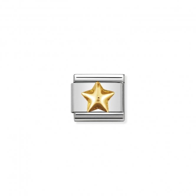 NOMINATION Classic Gold Raised Star Charms