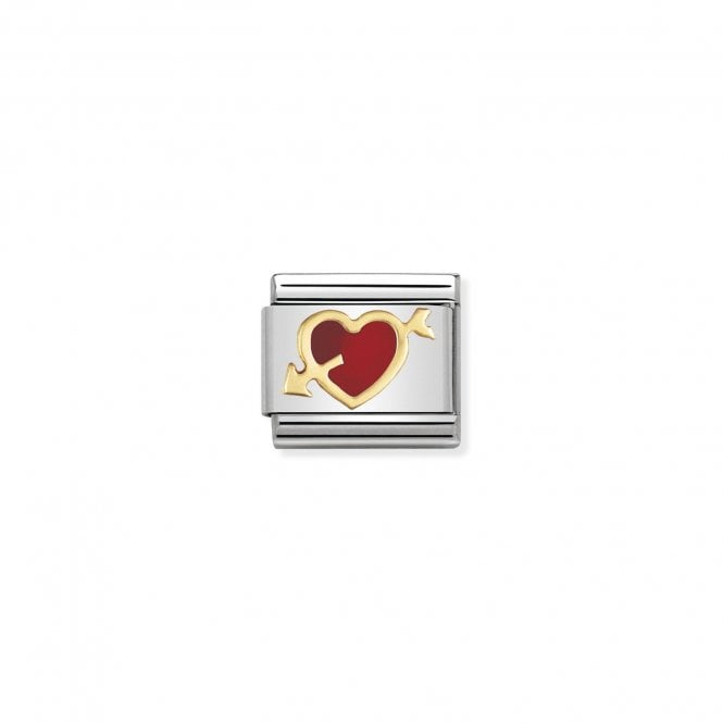 Nomination Classic Gold (Red Heart with Arrow) Love & Hearts Charms