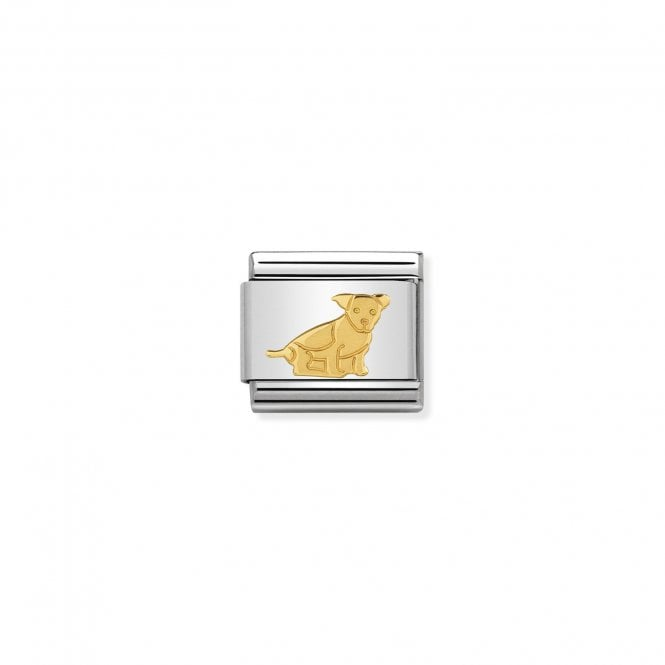 NOMINATION Classic Gold Seated Dog Charms
