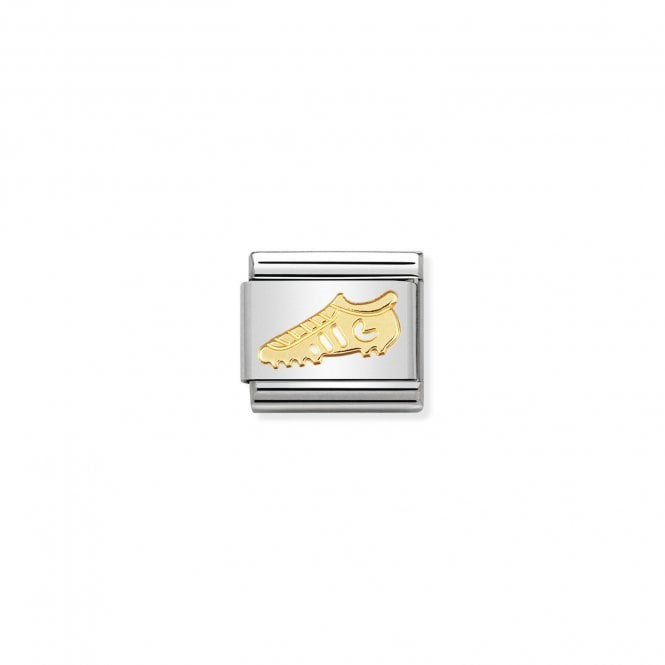 NOMINATION Classic Gold Soccer Boot / Football Boot Charms