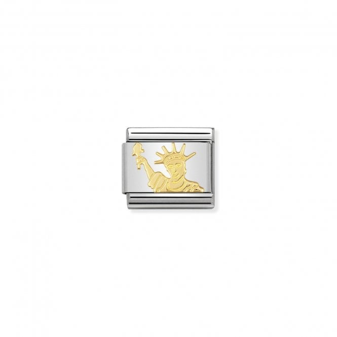 NOMINATION Classic Gold Statue of Liberty New York Charms