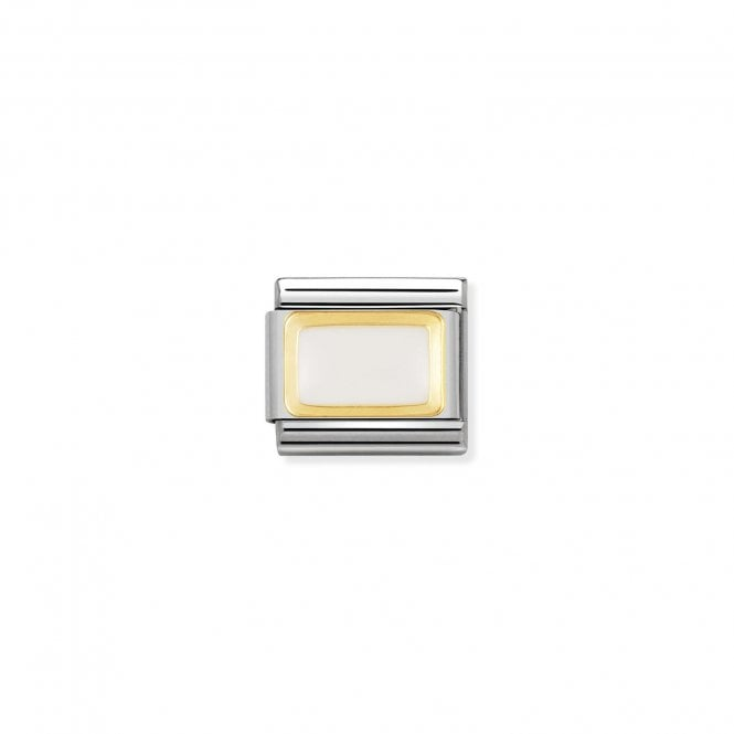 Nomination Classic Gold (White Rectangle) Fashion & Fun Charms