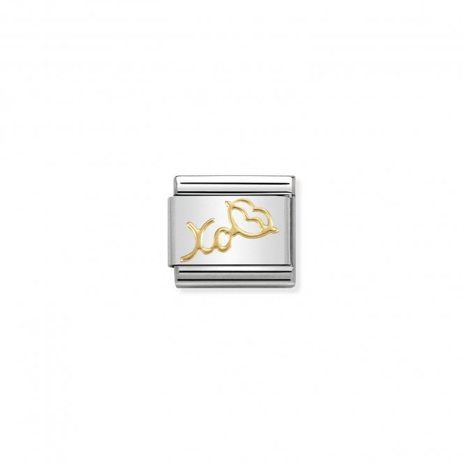 Nomination Classic Gold (XO with Mouth) Love & Hearts Charms