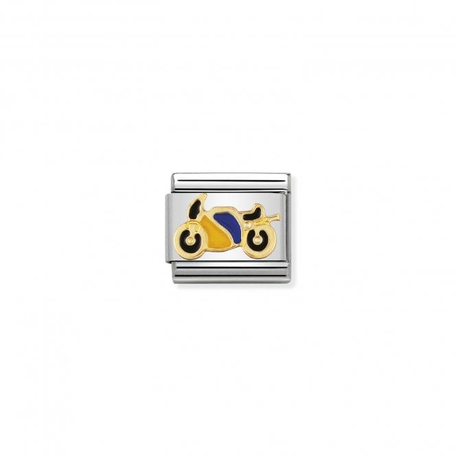 Nomination Classic Gold (Yellow and Blue Motorbike) Sports & Hobbies Charms