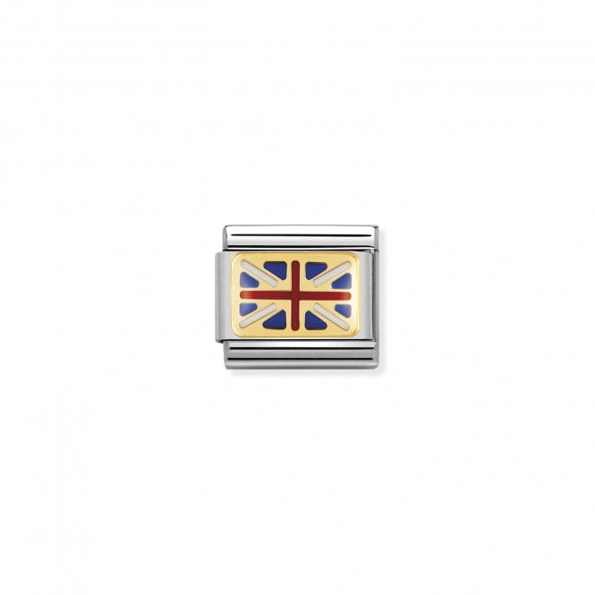 NOMINATION Classic Red, Blue and White Enamel British Flag Charms