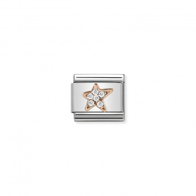 NOMINATION Classic Rose Gold and CZ Asymmetric Star Charms