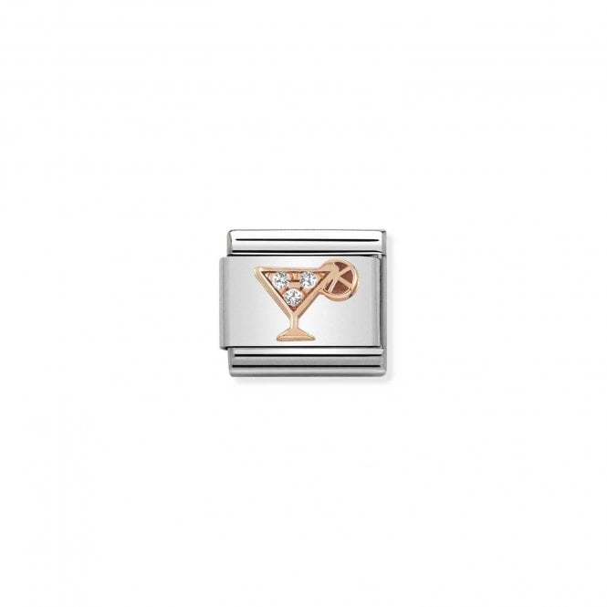NOMINATION Classic Rose Gold and CZ Cocktail Charms