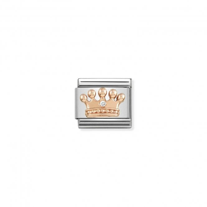 NOMINATION Classic Rose Gold and CZ Crown Charms