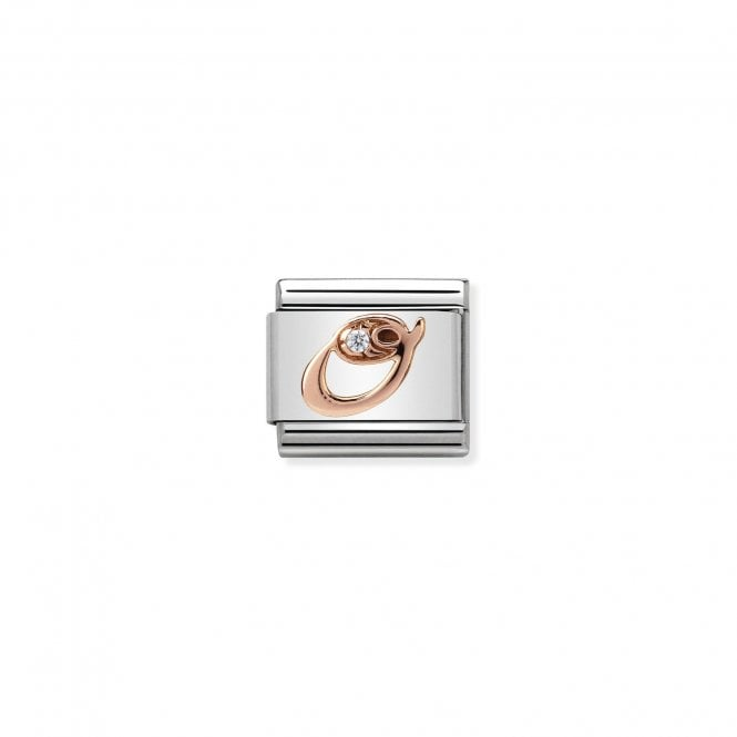 NOMINATION Classic Rose Gold and CZ Letter O Charms
