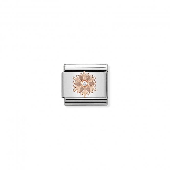 NOMINATION Classic Rose Gold and CZ Snowflake Charm