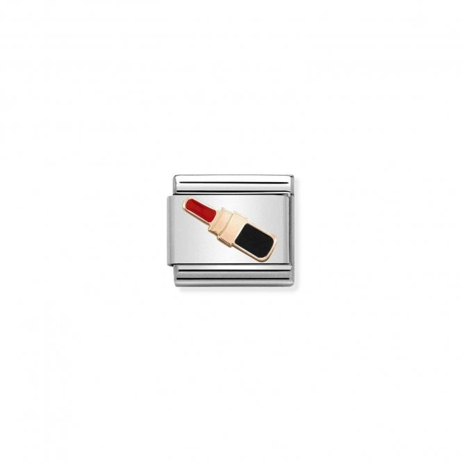 NOMINATION Classic Rose Gold and Enamel Lipstick Charm