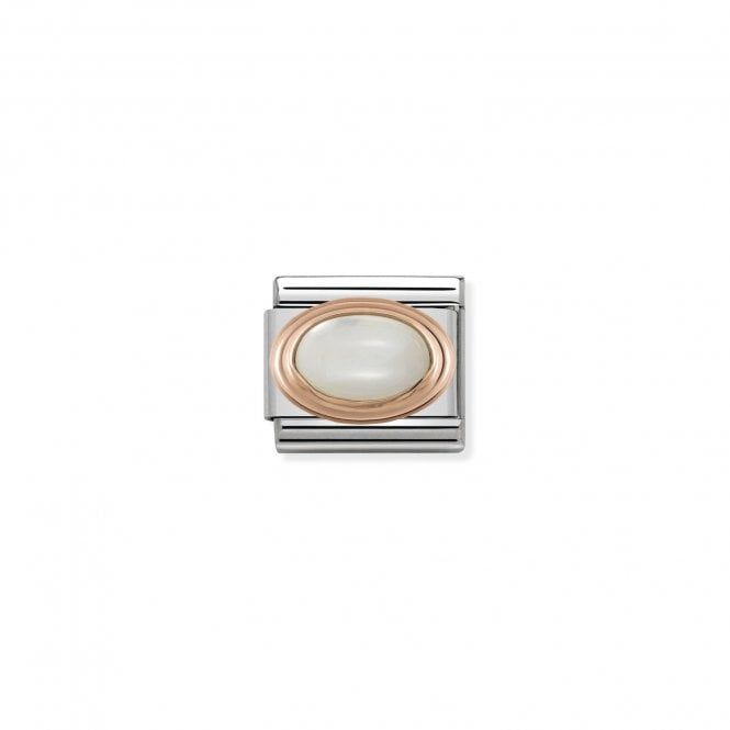 NOMINATION Classic Rose Gold and Mother Of Pearl Oval Charms