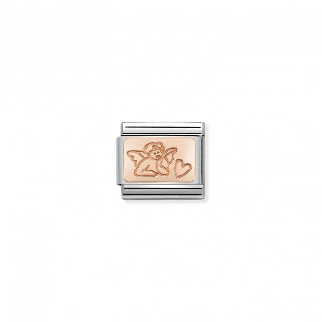 NOMINATION Classic Rose Gold Engraved Angel of Love Charms