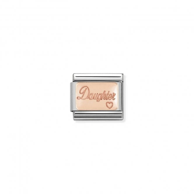 NOMINATION Classic Rose Gold Engraved Daughter Charms