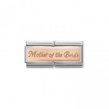 Classic Rose Gold Engraved Double Plate Mother of the Bride Charms