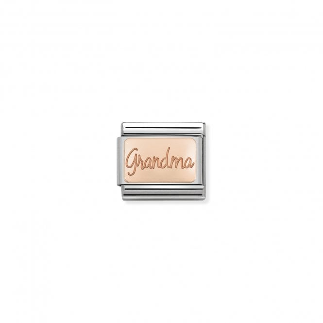 NOMINATION Classic Rose Gold Engraved Grandma Charms