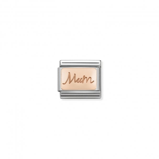 NOMINATION Classic Rose Gold Engraved Mum Charms
