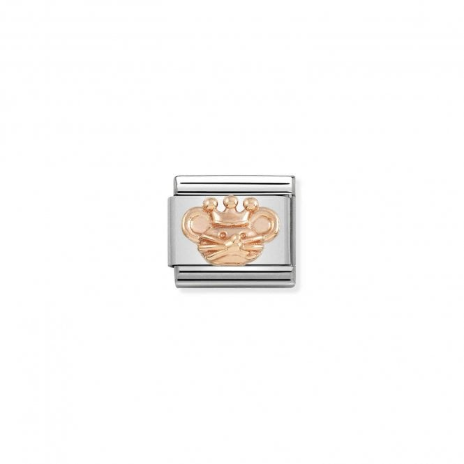 NOMINATION Classic Rose Gold King Rat Nutcracker Ballet Charms