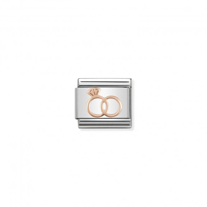 NOMINATION Classic Rose Gold Marriage Rings Charms