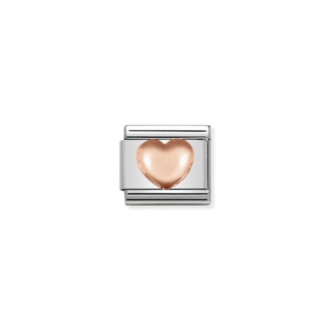 NOMINATION Classic Rose Gold Raised Heart Charms