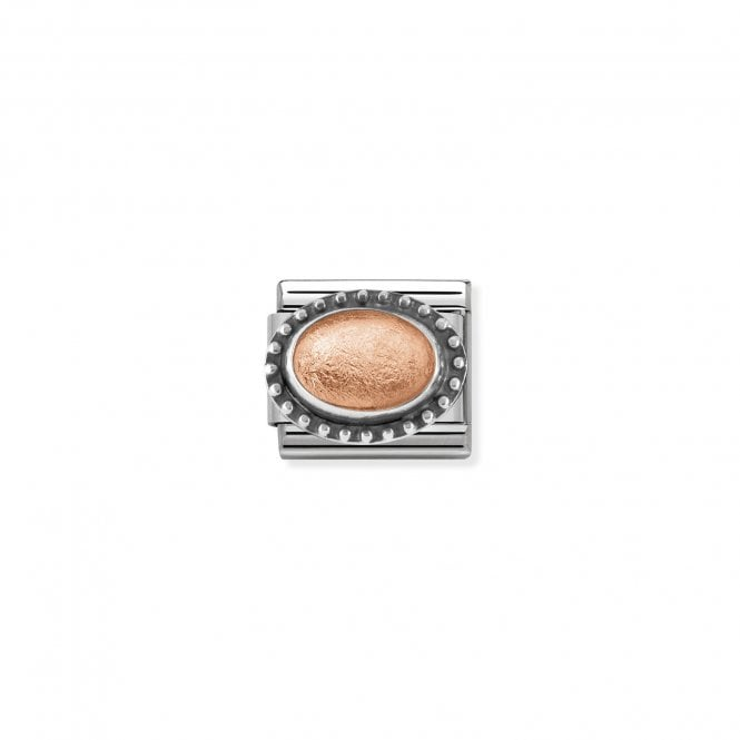NOMINATION Classic Silver and Rose Gold Rock Crystal Charm
