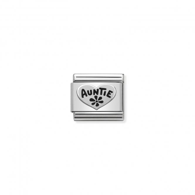 NOMINATION Classic Silvershine Silver and Black Enamel Auntie Charms