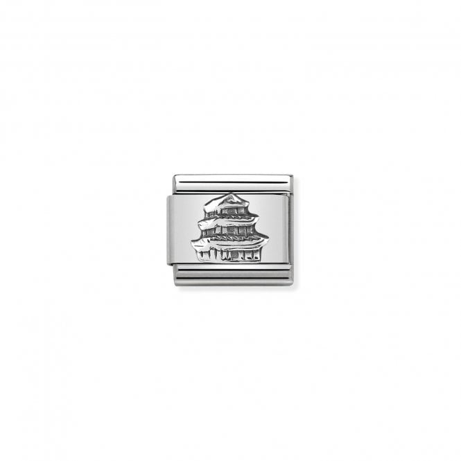 Nomination Classic Silvershine Silver Japanese Pagoda Charms