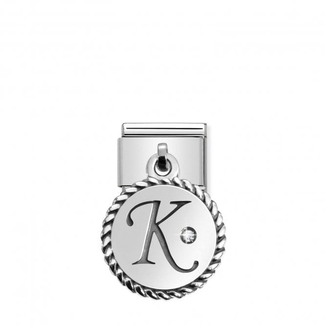 Nomination Classic Silvershine Silver Letter K Hanging Pendant Charms
