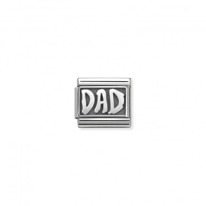 Nomination Classic Silvershine Silver Oxidised Dad Charms