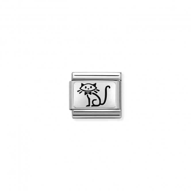 Nomination Classic Silvershine Silver Oxidised Family Cat Charms