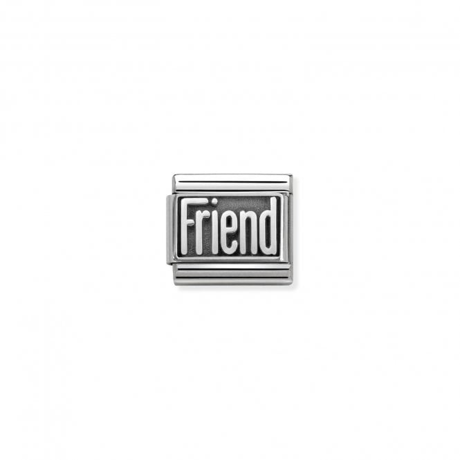 Nomination Classic Silvershine Silver Oxidised Friend Charms