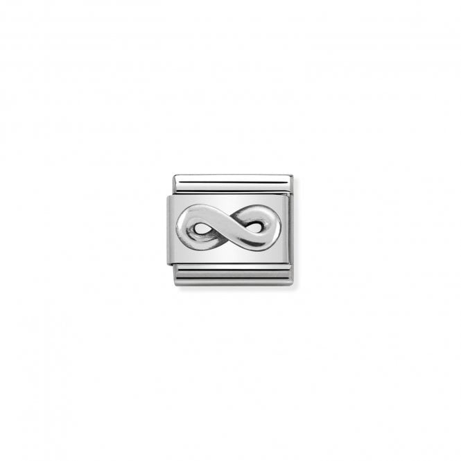 Nomination Classic Silvershine Silver Oxidised Infinity Loop Charms