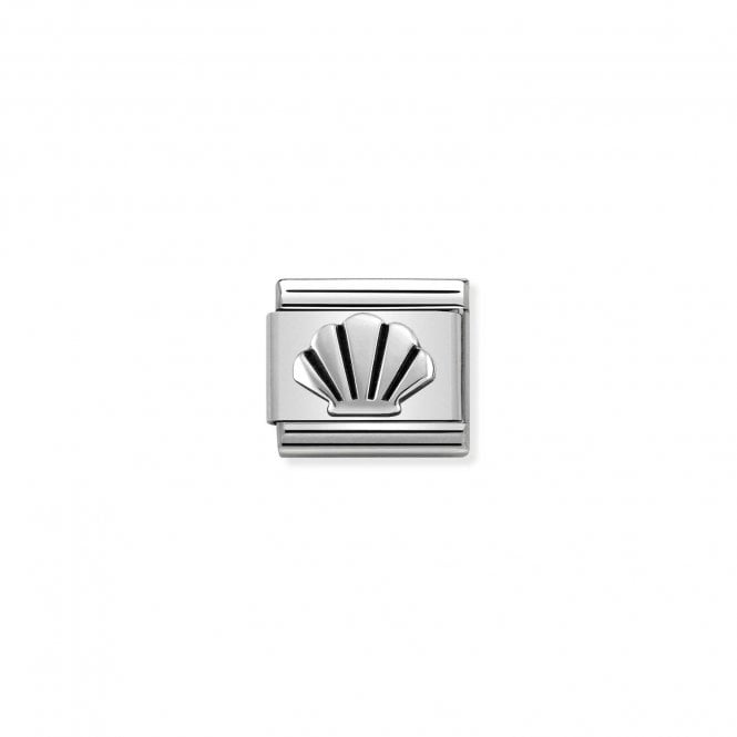 Nomination Classic Silvershine Silver Oxidised Shell Charms