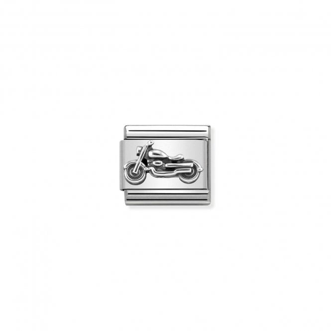 Nomination Classic Silvershine Silver Oxidised Vintage Bike Charms