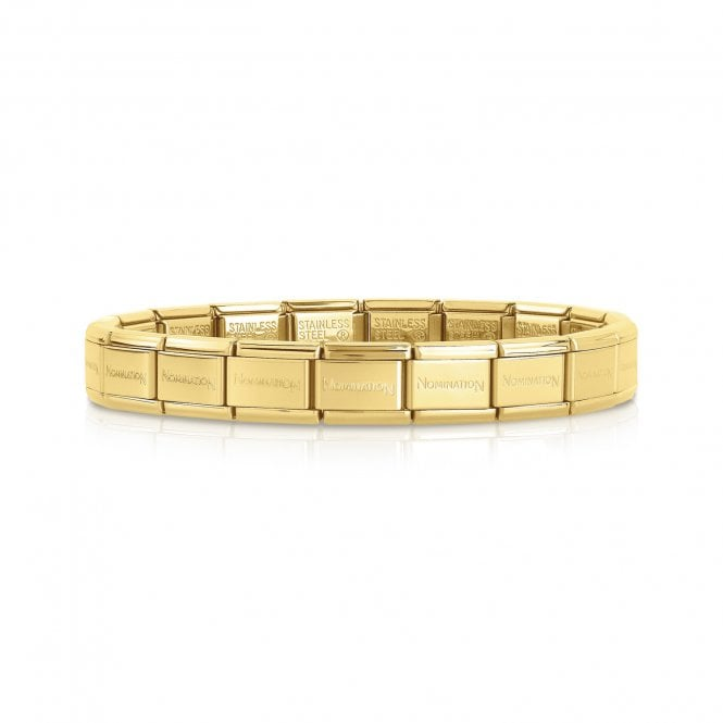 Nomination Classic Starter Base Bracelet in Yellow Gold