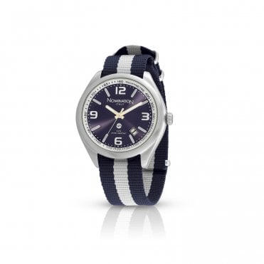 Cruise Navy Blue and White Sports Watch