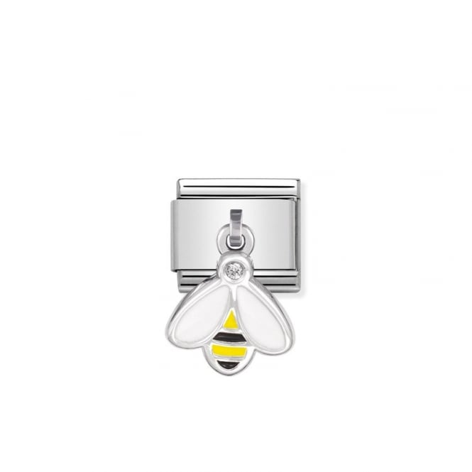 NOMINATION Dangly Silver Bumble Bee Charms