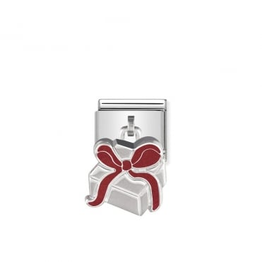 Dangly Silver Present Box Charms