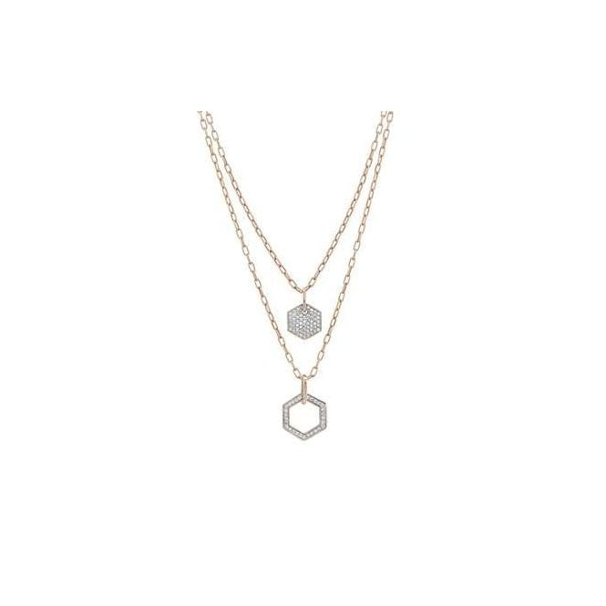 Nomination Emozioni Rose Gold Plated Hexagonal Necklace with Double Chain