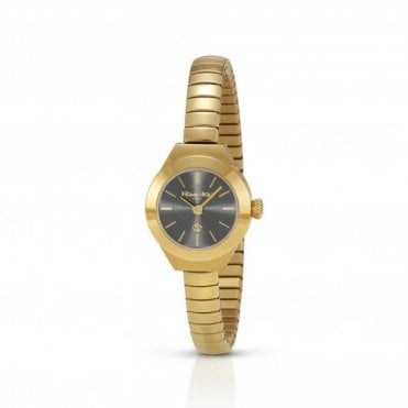 Geneve Gold Coloured Watch With Black Dial